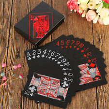 New Waterproof Black Red Playing Cards PVC Poker Casino Creative Durable Game