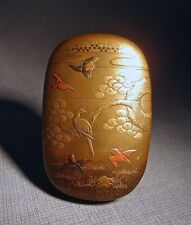 More details for japanese meiji gold lacquer inro