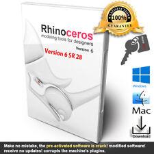 Rhino 3D MODELING V6.28 🗝️ Mac & Win 🗝️ licensed with key 🗝️