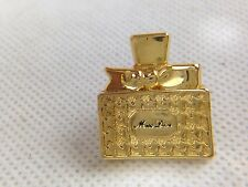Auth Christian Dior Gold Plated PARFUM MISS DIOR Bottle Pins 5H261620#*