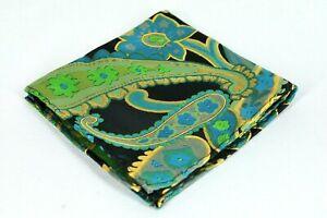 Lord R Colton Masterworks Konya Moss Green Floral Silk Pocket Square - $75 New