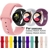 20mm Replacement Watch Band Silicone Strap For Samsung Galaxy Watch Active 42mm-