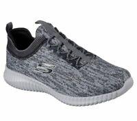 Skechers Gray Black Wide Fit Shoes Men Comfort Slip On Casual Memory Foam 52642