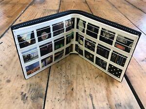 Paul Smith Black leather photo wall internal print billfold wallet