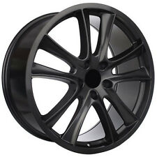 "22"" Wheels For Porsche Cayenne GTS Touareg Audi Q7 Black Rims 22x10 Set of 4"