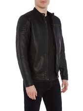 Blouson biker simili cuir noir homme Jack and Jones taille S NEUF 9bf0d7dabce0