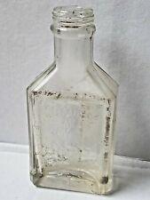 Antique, clear glass medicine bottle.  A.S. Hinds, Portland, Me.. Empty