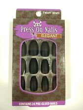 "New Fright Night 24 Pre-Glued Press On Nails ""Elegant"" Halloween Costume Nails"