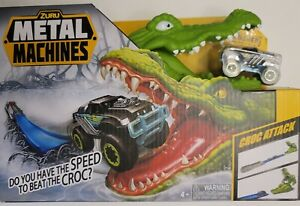 Zuru Metal Machines Croc Attack Playset Diecast Monster Truck Track & Crocodile