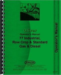 Oliver 77 Tractor Owners Operators Manual Row Crop Standard Industrial