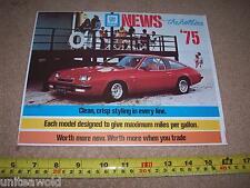 1975 Chevrolet Buick Pontiac CadillacGM USA American Car Brochure mint condition