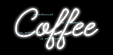 New White Coffee Cafe Wall Decor Light Lamp Neon Sign 14' ship from Usa