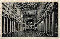 Roma Rom Italien Ansichtskarte ~1930 Basilica di S. Paolo fuori le Mura Interno