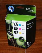HP 88 (CC606FN) OfficeJet Cyan, Magenta, & Yellow 3 Ink Cartridges *EXPIRED*