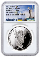 2017 Ukraine 1 oz Proof Silver Archangel Michael 1 Hryvnia NGC PF69 UC SKU53349