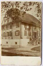 Salzburg Austria Cabinet Card Photo Gasthaus Walden Mann Inn Restaurant 1880