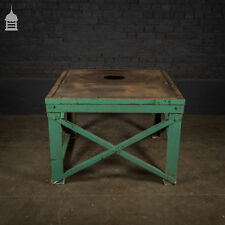 More details for large industrial work bench table with steel base
