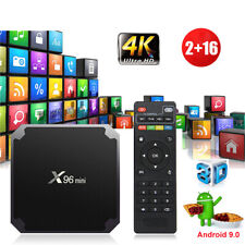 X96MINI Android 9.0 Pie Quad Core Smart TV BOX WIFI 2+16G Network Streamer HDMI