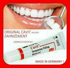 Zahnfüllung Zahnzement für Zuhause Zahnersatz Kronen & Brücken kleben DIY weiss