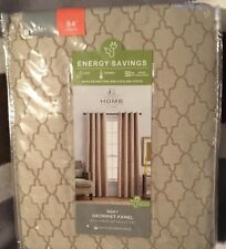 JCPENNEY HOME RORY GROMMET PANEL  British Khaki 50 X 84 Lined Energy Saving NIB