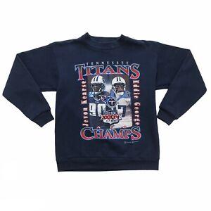 Vintage Y2K Tennessee Titans Eddie George Jevon Kearse 2000 Sweatshirt XS/XXS