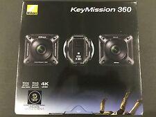 New Nikon Waterproof Wearable Camera Key Mission 360 BK Black 4K Wifi KeyMission
