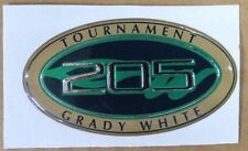GRADY WHITE OEM 205 TOURNAMENT OVAL NAME DECAL **SMALL** #10-930
