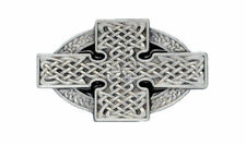 Celtic Cross Belt Buckle - Black
