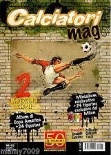 CALCIATORI MAG=N°3 6-7/2011=MINIALBUM CON 24 FIGURINE DEL MILAN CAMPIONE D'ITALI