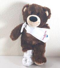 "Build A Bear FEEL BETTER SOON! Dark Brown Bear Arm and Leg Cast Plush 14"""