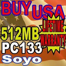 512MB SDRAM Soyo SY-P4VAL Version M PC133 MEMORY RAM