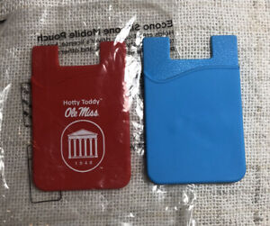 Ole Miss Rebels Red Light Blue Hotty Toddy Cell Phone Wallet