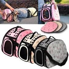 More details for portable pet dog cat travel carrier tote rabbit cage bag crate kennel box holder