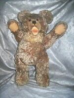 "LARGE VINTAGE STEIFF 20"" TALL ZOTTY MOHAIR TEDDY BEAR with GLASS EYES / GROWLER"