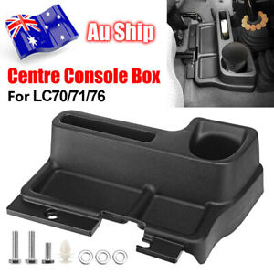 Black Centre Console Storage Box For Toyota Landcruiser LC70 LC71 LC76 77 Series
