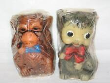 Vintage 2 Animal Delights Hand Painted Candles Monkey & Mouse ORIGINAL PACKAGING