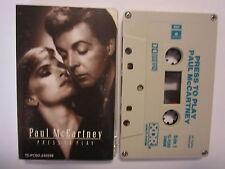 PAUL MCCARTNEY PRESS TO PLAY AUSTRALIAN CASSETTE TAPE
