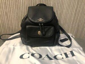 Authentic NEW Coach Backpack Bag Mini Billie Rucksack Black Leather F37621