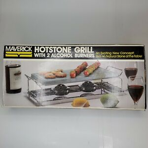 Vintage c. 1994 Maverick Hot Stone Grill With 2 Burners AH-15 New Open Box