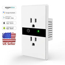 10A Smart WIFI Wall Outlet Plug Duplex Receptacle Switch Wireless In-Wall Socket