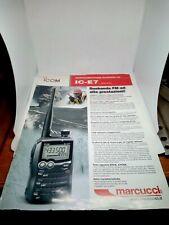ICOM IC-E7 BROCHURE ORIGINALE RADIO HF