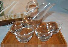 "STUNNING LENOX ""TUSCANY CLASSICS COLD SAKE SET"" NEW IN BOX CLEAR GLASS SAKE SET"