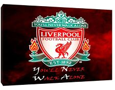 Liverpool Football NEVER WALK ALONE Picture RePrint On Framed Canvas Wall Art
