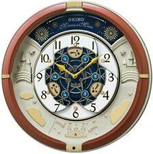 Seiko clock Wall clock brown metallic Analog Karakuri Triple Selection RE601B