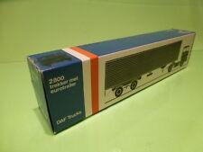 LION CAR 59 DAF TRUCKS 2800 EUROTRAILER - 1:50 GOOD * ONLY EMPTY BOX * (21)