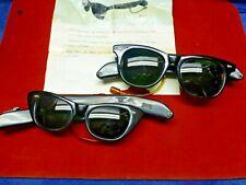 2X His /Hers Vintage 1960s Sakura 3 transistor radio spectacles sunglasses Japan