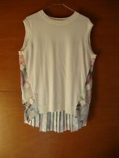 Ted Baker Multicoloured Floral Sleeveless Top With Pleated Back Size 3