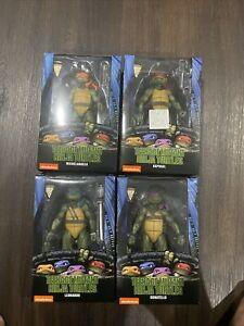 Neca Gamestop Exclusive Teenage Mutant  Ninja Turtles 1990 set TMNT