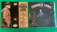 """The Best of Frankie Laine and The Best of Frankie Laine Vol 2 Vinyl 12"""" Records"""