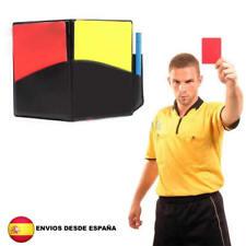 Tarjetas arbitro de Futbol soccer referee arbitre Schiedsrichter